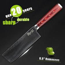 couteau de cuisine chinois haoye 7 pouce légumes couteaux japonais vg10 acier damas couteau de