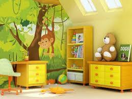 design interieur design déco murale chambre enfant animaux jungle