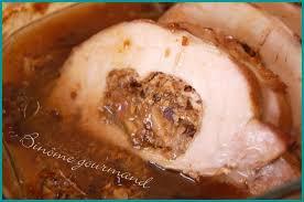 comment cuisiner roti de porc rôti de porc farci aux pruneaux et aux chignons de