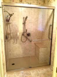 custom walk in showers walk in shower with bench walk in shower with custom corner bench