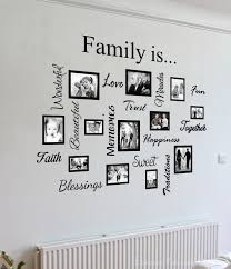 wall art picture frames family quote picture frame gallery wall art decal sticker