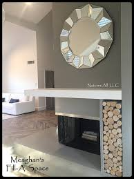 empty fireplace decor fill a space decorative white birch logs