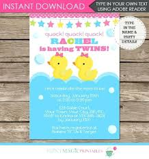 duck baby shower invitations rubber duck baby shower invitation ryanbradley co