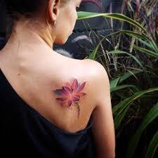 purple lotus on shoulder blade best ideas gallery