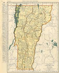 Map Of Vermont And New Hampshire Early Vermont Maps