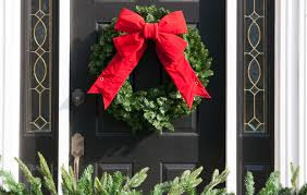 Christmas Decoration For Front Door by Christmas Porch Decorations