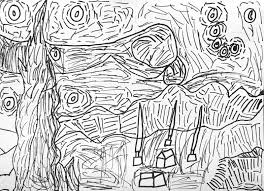 spectacular van gogh starry night coloring page with starry night