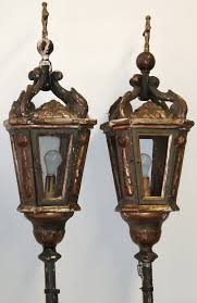 pair of venetian neoclassical gondola lanterns for sale