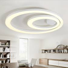 led dining room lighting amusing led ceiling flush mount 34 white acrylic led light fixture