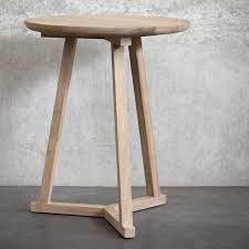 Tripod Side Table Ethnicraft Oak Tripod Side Table Furniture Stores Melbourne