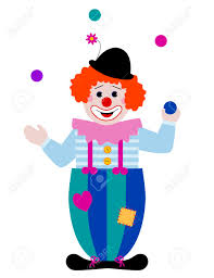clowns juggling balls a clown juggling colorful balls royalty free cliparts vectors