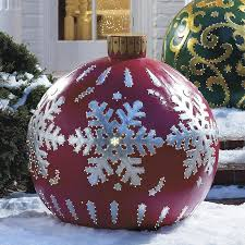 oversized outdoor ornaments chrismas 2017