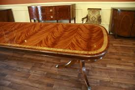 Large High End Mahogany Reproduction Dining Room Table Seats - Mahogany kitchen table