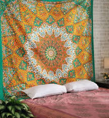 tapestry home decor dark cyan floral wall tapestry home wall decor mandala wall tapestry