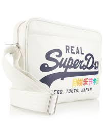 alumni bag new womens superdry rainbow alumni bag winter white ebay