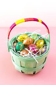 easter basket diy color block easter basket hearts