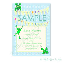 printable bugs party invitation template free sample