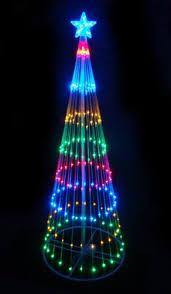 led christmas tree lights northlight 6 ft multi color led light show cone christmas tree