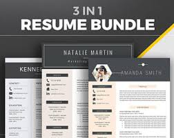 Office Word Resume Template Professional Resume Template Bundle Cover Letter References