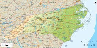 Physical Map Of The United States by Map Of North Carolina North Carolina Pinterest North