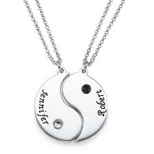 engraved necklaces for engraved yin yang necklace for couples mynamenecklace