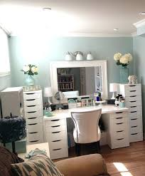 Makeup Table Vanities Makeup Table With Lighted Mirror And Drawers Source