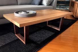 modern timber coffee tables calvin solid american oak coffee table w walnut leg bespoke
