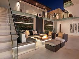 interior outdoor conversation pit in atrium section comfy and