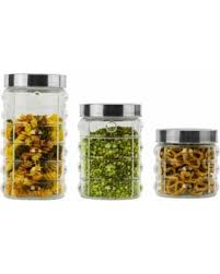 kitchen canisters glass bargains on kitchen canister sets 3 pcs glass kitchen canisters