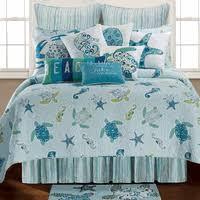 Coastal Bed Sets Tidal Wave Turtle Quilt Bedding Collection