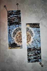 modern abstract materic painting on wood board dimension 79x