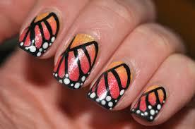 monarch butterfly nail art youtube