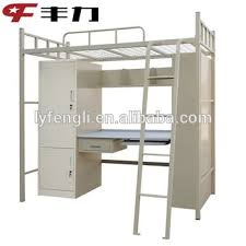 Bunk Bed With Study Table College Used Metal Bunk Bed With Study Table Wardrobe Bookshelf