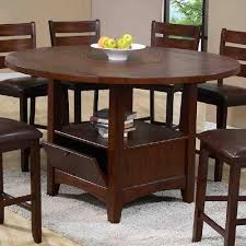 holland house 1920 round table with lazy susan godby home