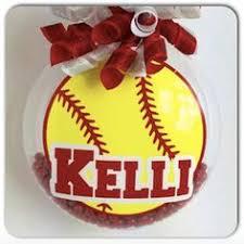 Softball Christmas Ornament - softball christmas ornament by shutthefrontdoor2 on etsy