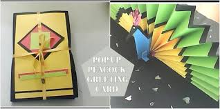 How To Make Origami Greeting Cards - greeting card diy pop up peacock card 3d gift card
