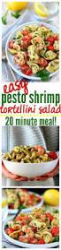 easy pesto shrimp tortellini salad 20 minutes kim u0027s cravings