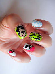 comic book nails betty boom nail art nail that accent
