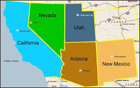 us desert map cities in the desert profiles for states cities and towns in