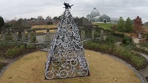 Gardenfest Of Lights Lewis Ginter Botanical Garden U0027s Bike Sculpture At Dominion