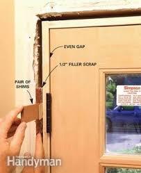 How To Install Interior Door Casing How To Replace An Exterior Door Family Handyman