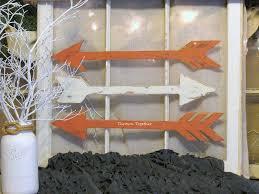 wood arrow wall decor coral off white handmade arrows rustic