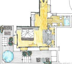 Presidential Suite Floor Plan by Terrazza Marco Antonio Luxury Suite Rome Five Star Accommodation