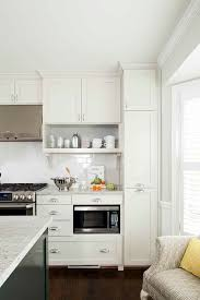 Cream Shaker Kitchen Cabinets by White Kitchen Cabinets With Marble Countertops Contemporary