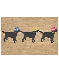 Liora Manne Area Rug Liora Manne Front Porch Indoor Outdoor 3 Dogs Vacation Neutral 2 6