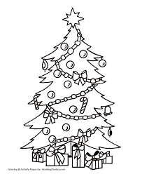 Christmas Tree Colouring Sheet