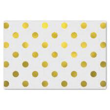 gold foil tissue paper gold foil polka dots craft tissue paper zazzle au