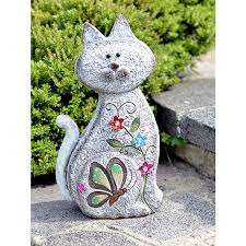 sitting cat garden ornament effect 42cm height on sale