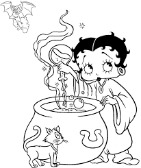 betty boop coloring pages print coloring pages