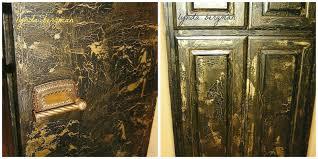white crackle paint cabinets lynda bergman decorative artisan painted black metallic gold